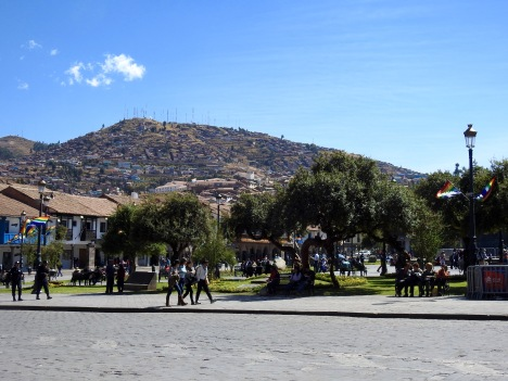 Taken from the main Plaza in Cusco, Plaza de Armas
