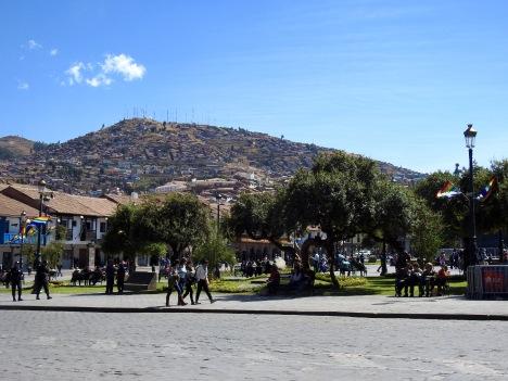 Taken from the main Plaza in Cusco, Plaza de Armas