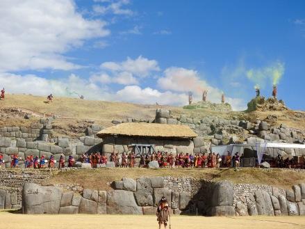 Into Raymi, celebrating winter solstice, in Saqsaywaman