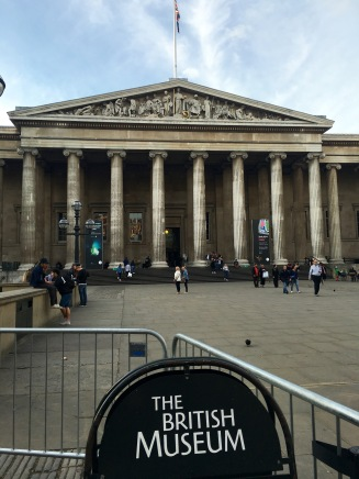 The exterior of the British Museum