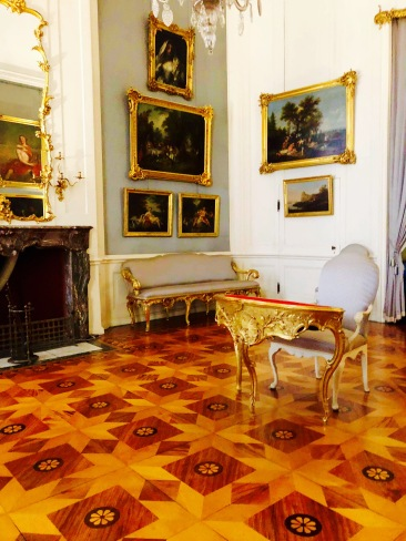 The interior of Palace Sanssouci