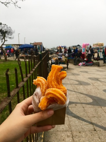 Churros can be bought here for 1 sol, and they are a great treat!
